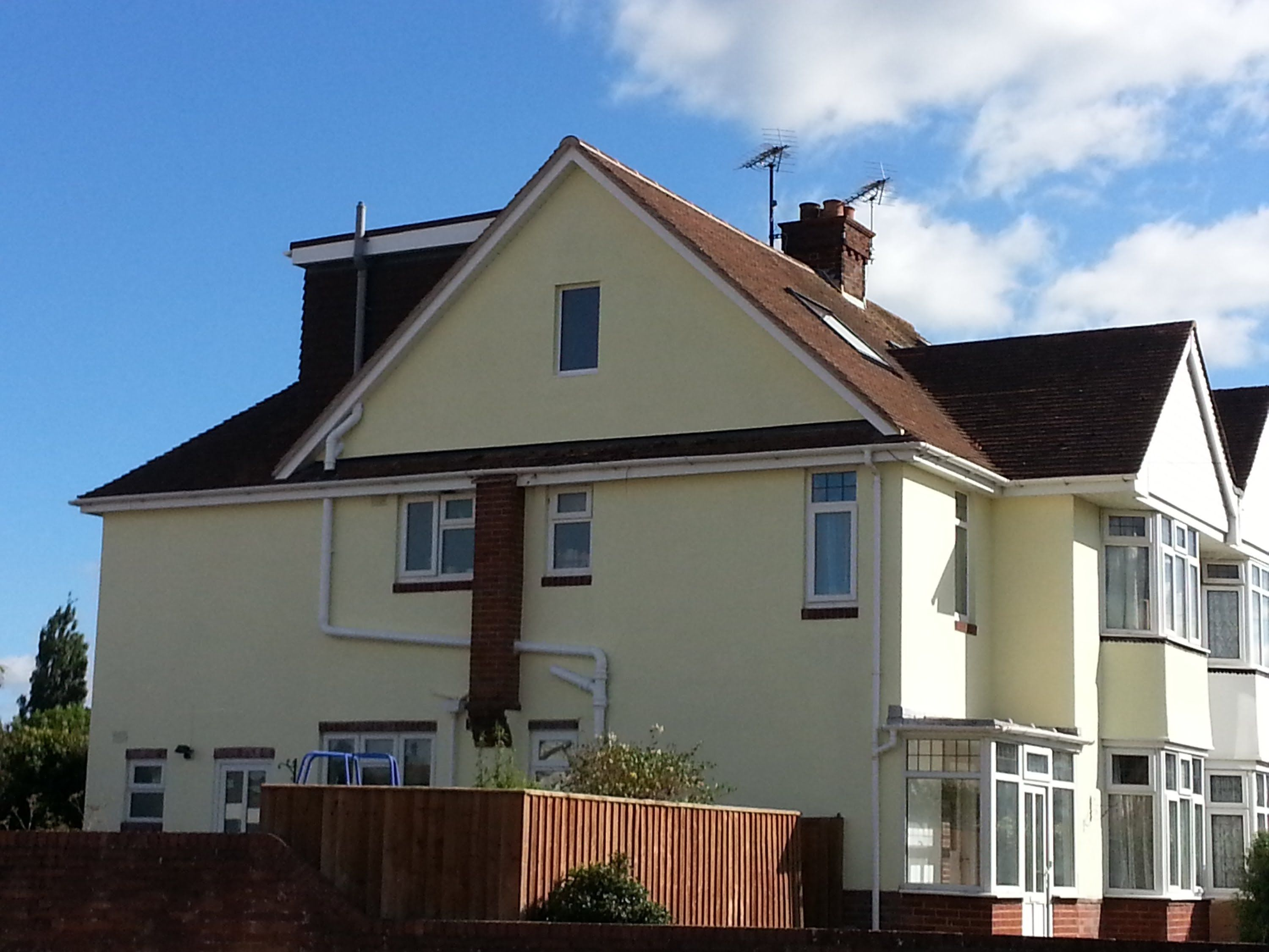 A Semi Detached House Having A Hip To Gable And Flat Roof Dormer Loft Conversion Flat Roof Loft Conversion Detached House