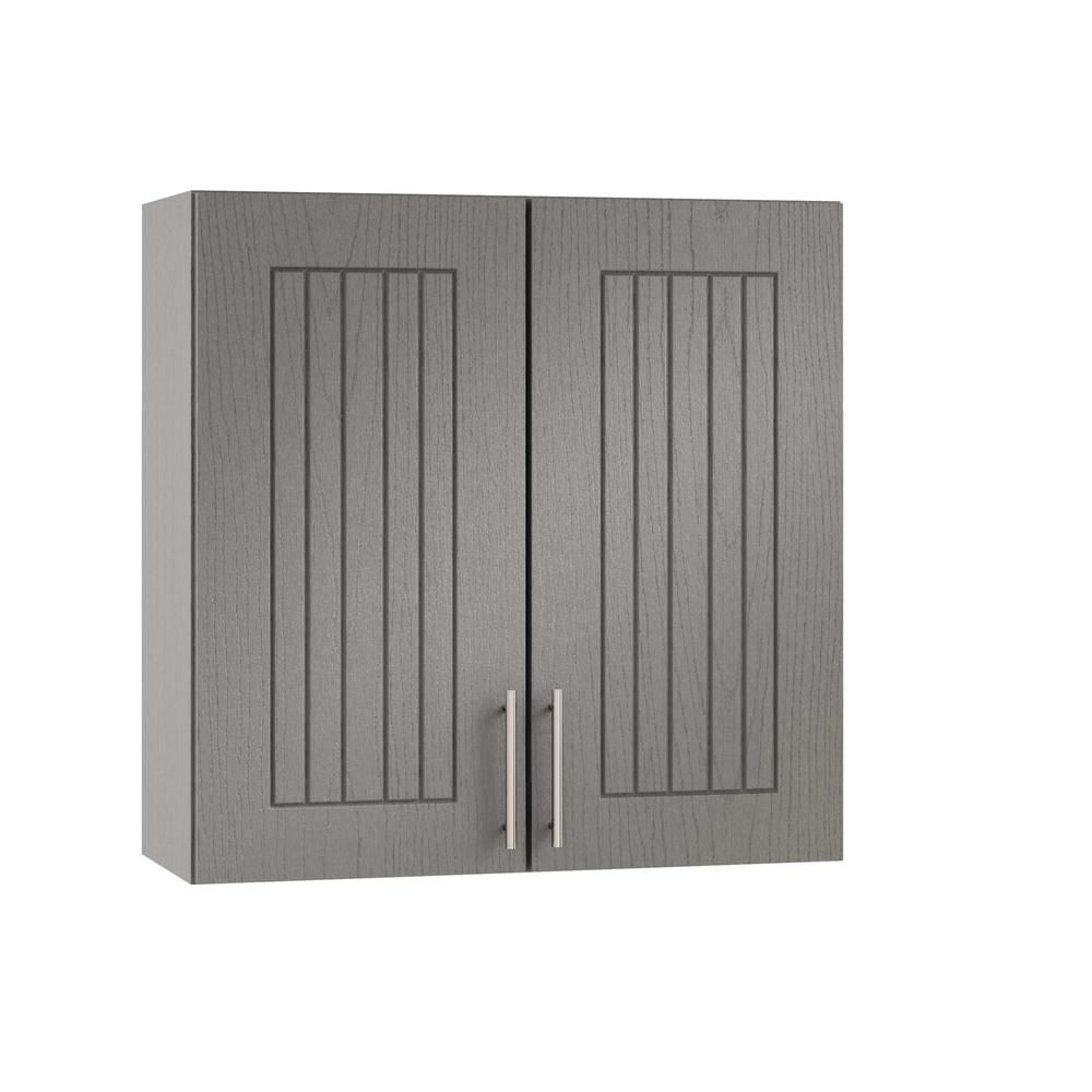 Weatherstrong Assembled 30x30x12 In Naples Open Back Outdoor Kitchen Wall Cabinet With 2 Doors In Rustic Gray Kitchen Wall Cabinets Wood Grain Texture Locker Storage