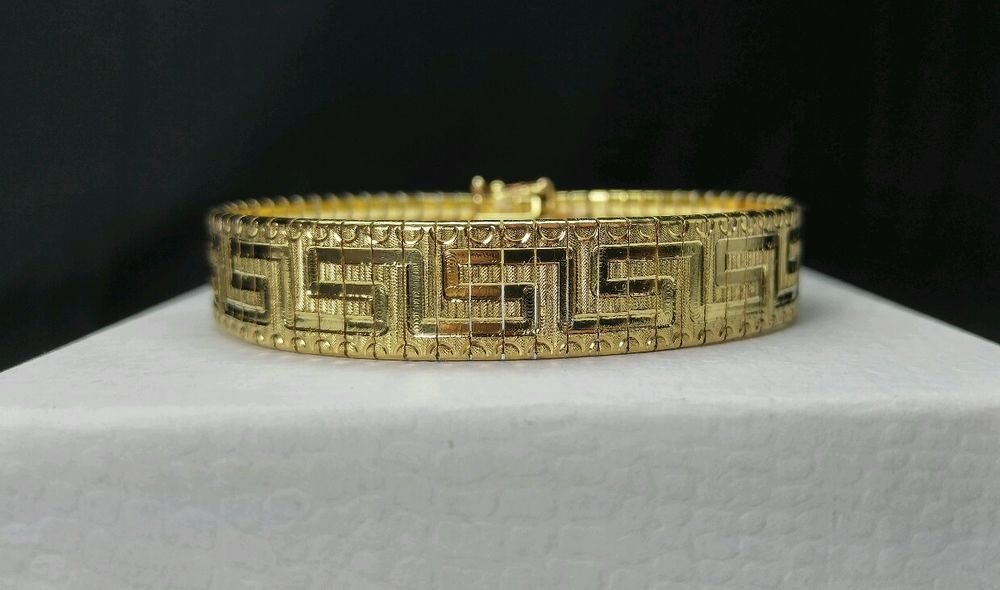 """Vintage Gold on Sterling Silver 925 ITAOR 13mm Omega Chain - Bracelet 7.8"""" ITALY #Itaor #OmegaChain"""