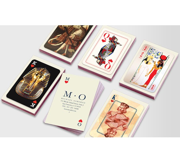 Michael Osborne\'s King and Queen Luxe business card designs for MOO ...