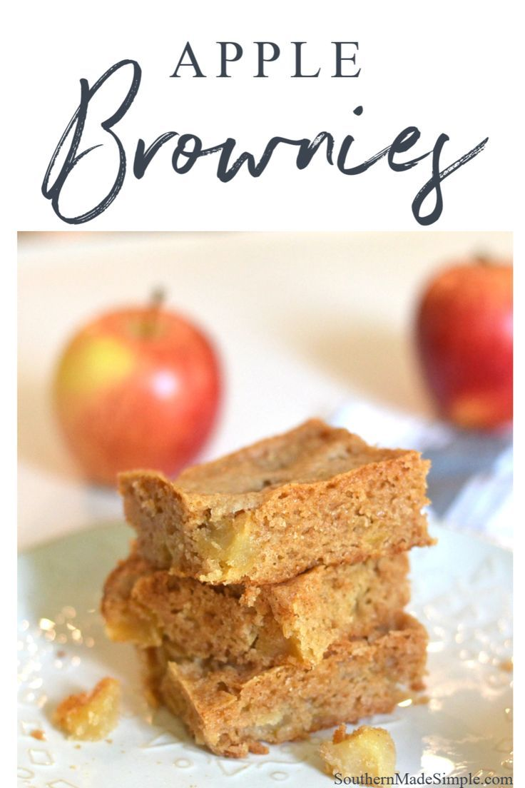 Apple brownies southern made simple recipe in 2020