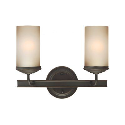 Sea Gull Lighting 4491402BLE-715 Sfera 2-Light Fluorescent Bathroom ...
