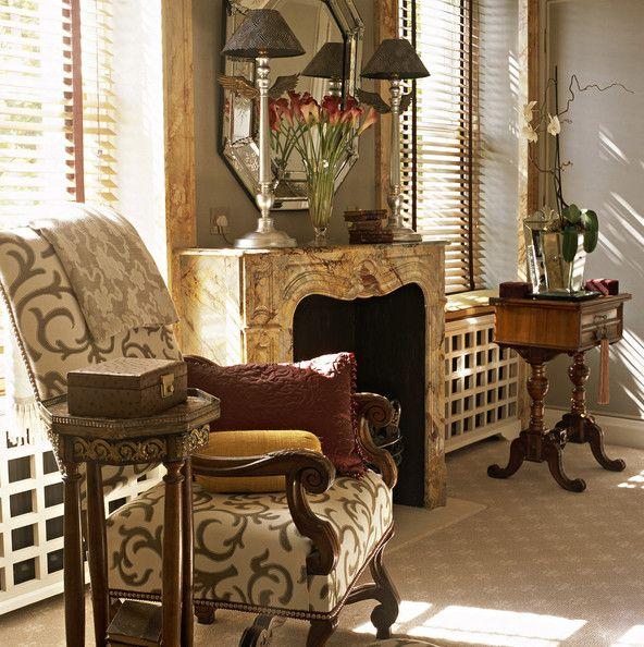 Brown Traditional Living Room Interior Design Living Room