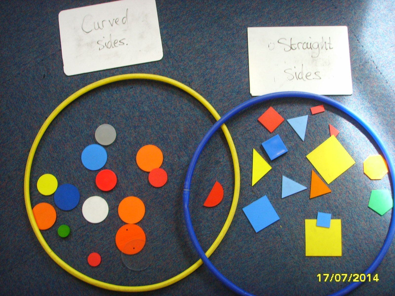 Sorting shapes venn diagrams math and math notes sorting geometric shapes on a venn diagram ccuart Images
