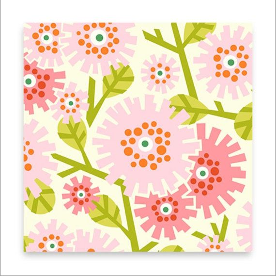 Heather Bailey Clementine fabric by Fabric Shoppe by fabricshoppe