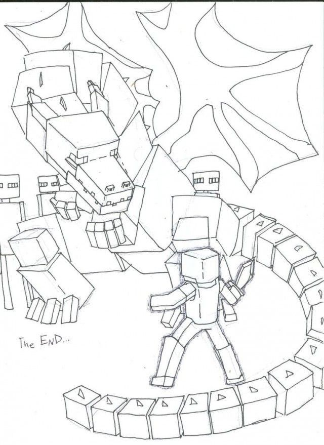 Ender Dragon Coloring Page Youngandtae Com In 2020 Dragon Coloring Page Minecraft Coloring Pages Unicorn Coloring Pages