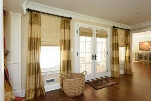 Silk Curtains With Coordinating Roman Shades Studio Interior Curtains Draperies Window Treatments
