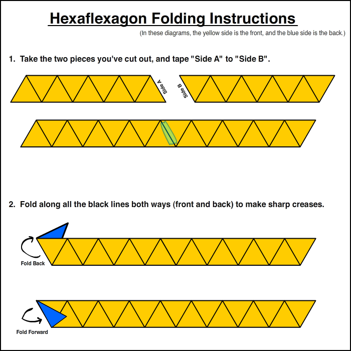 Custom Hexaflexagon Folding Instructions   Art Lessons Art