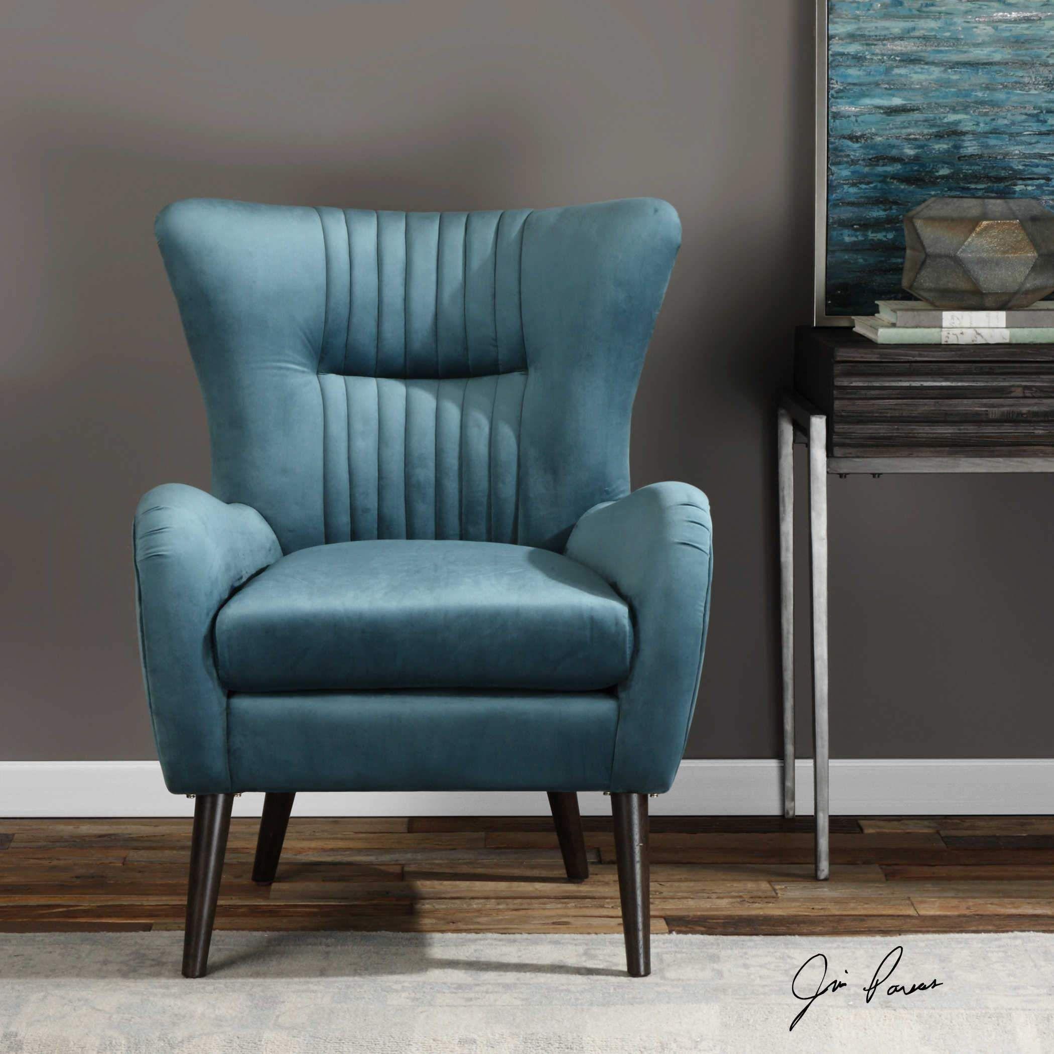 Best Mid Century Styled Dax Accent Chair Velvet Accent Chair 400 x 300