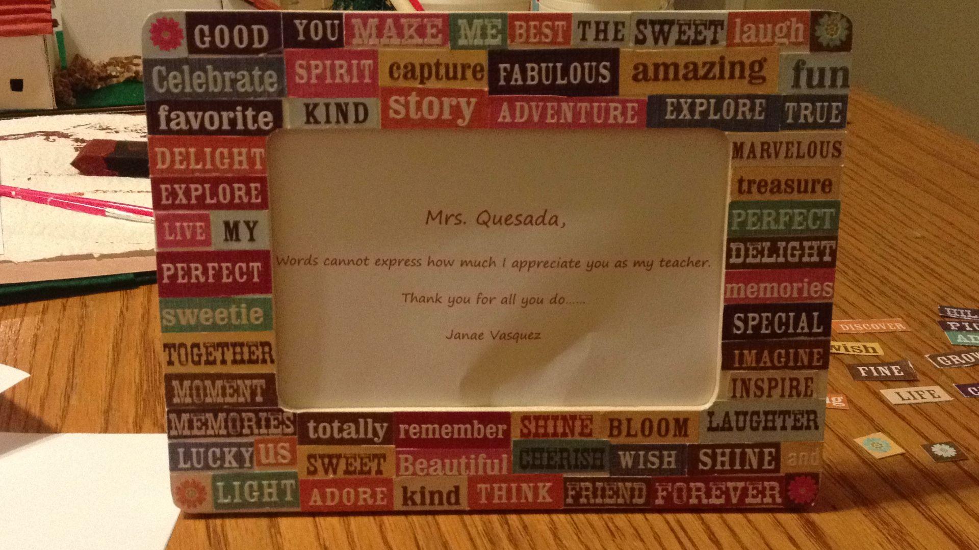 Word frame #words #frame #inspirational #teacher