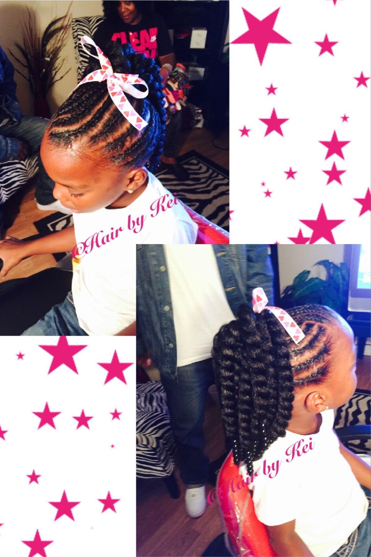 Little Girls Hair Style Crochet Littlegirlshair Braids Ponytails Crochet Braids For Kids Braids For Kids Kids Hairstyles