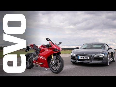 Audi R8 V10 v Ducati 1199 Panigale R | evo BATTLE - YouTube #audir8