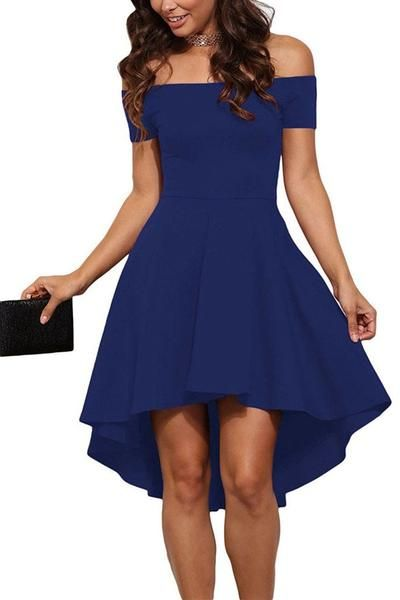 Off Shoulder Expansion Tail Short Dress – risechic.com efcea7952