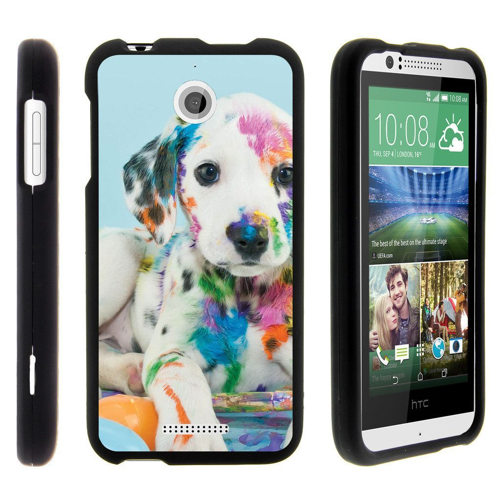 HTC Desire 510 Case SNAP SHELL Slim Fitted Snap on case - Colorful Puppy