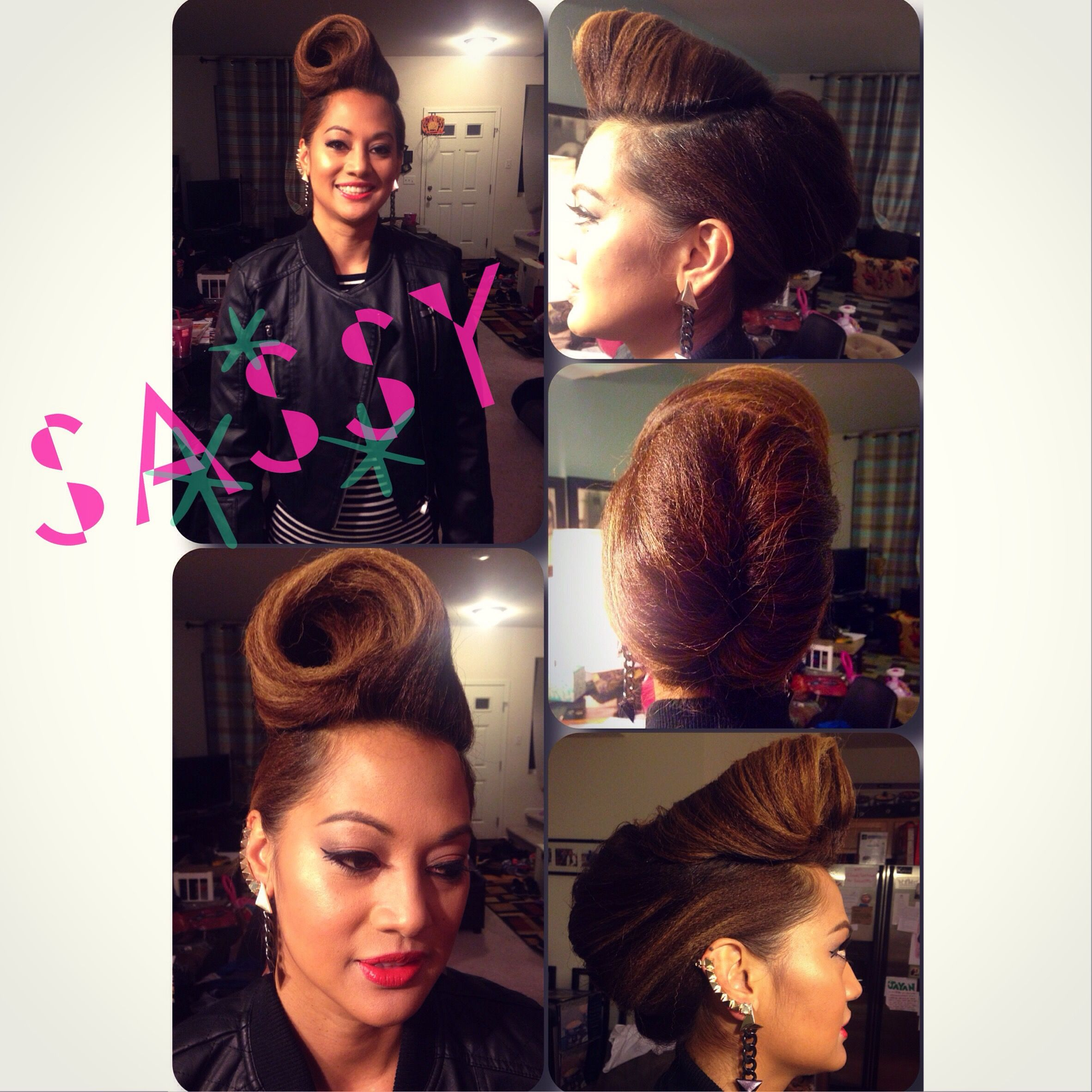 Halloween Hair & Makeup   Done by me at Sassy Shears