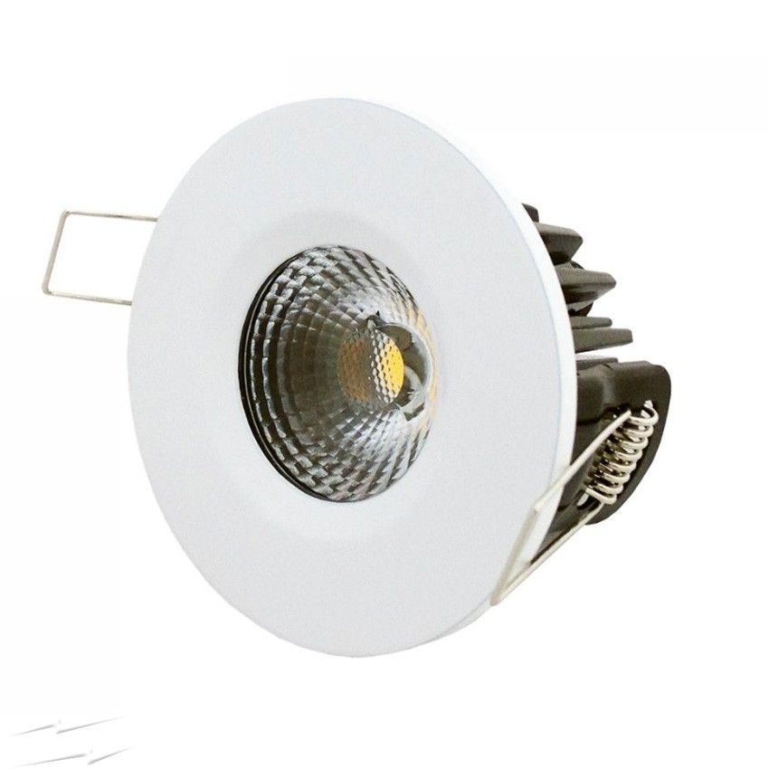 Ip65 Dimmable 10w Neutral White Fixed Led Fire Rated Downlight