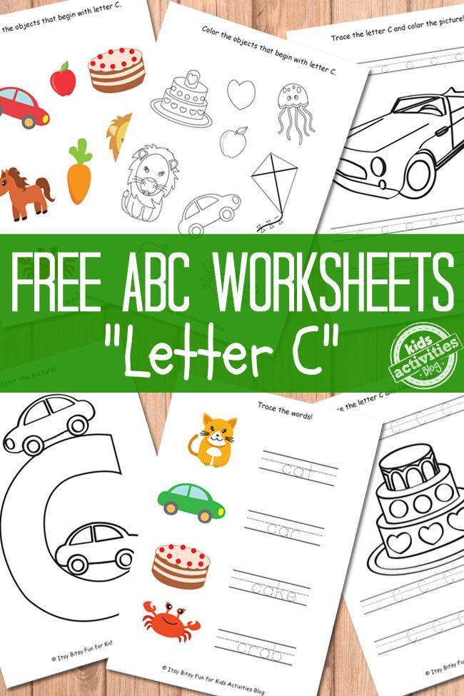 Letter C Worksheets Free Kids Printables Printable