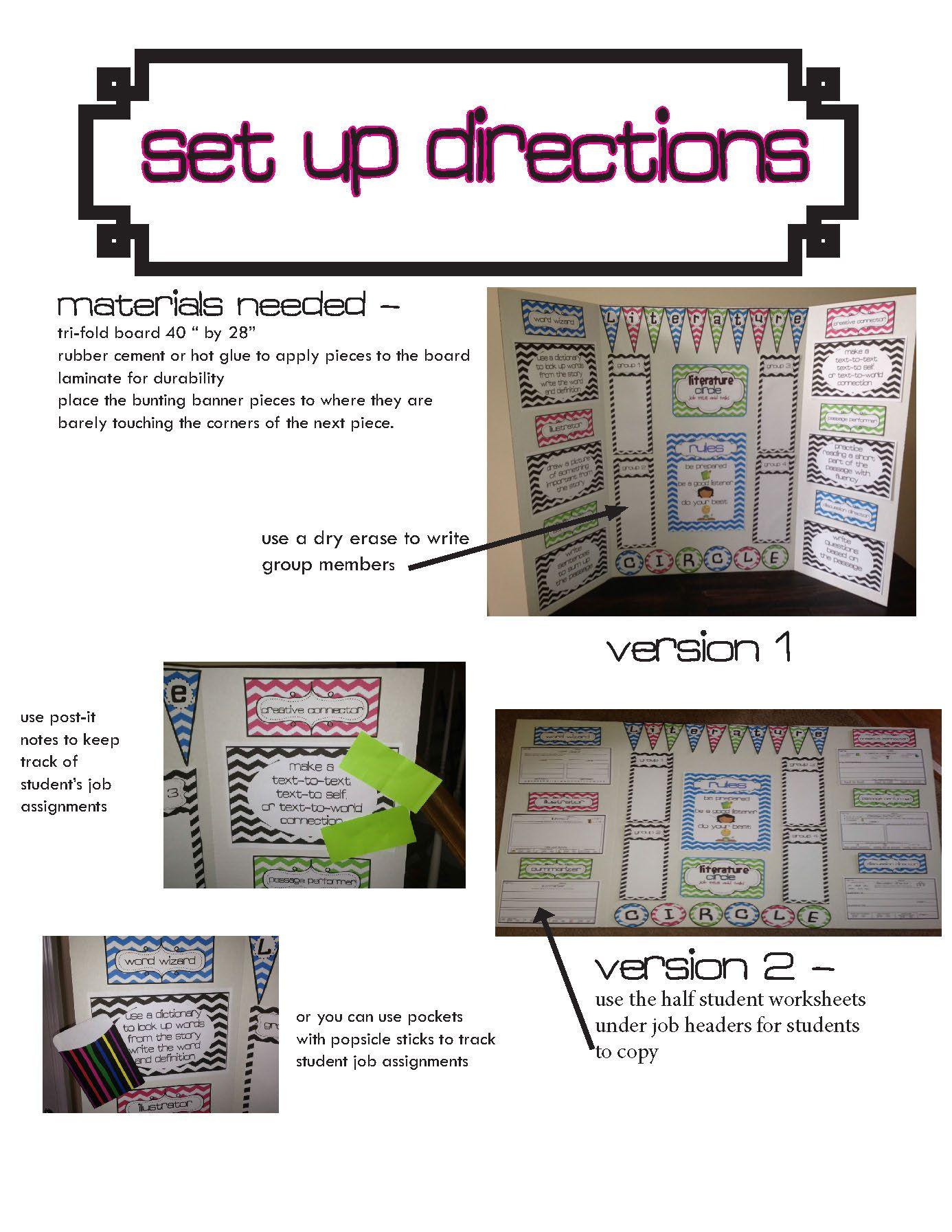 Literature Circle Task Management Display Board