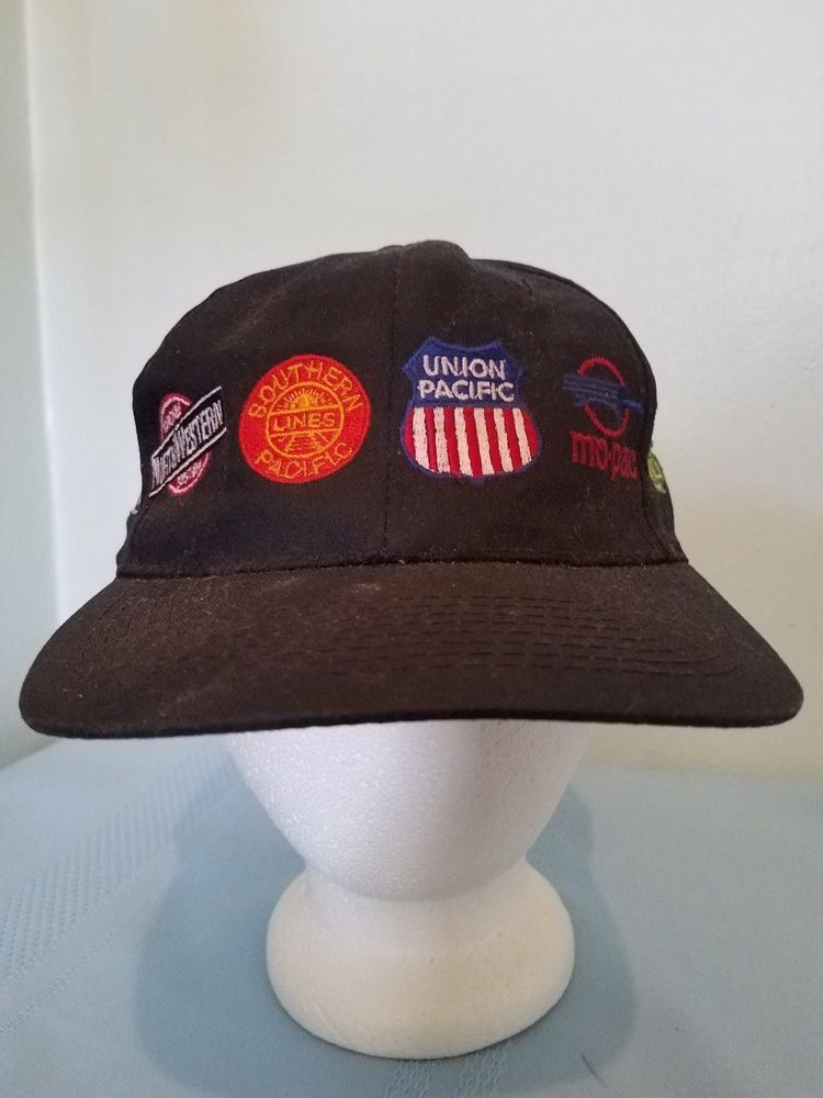 Railroad Logo Hat Cap Adjustable Snapback Union Pacific Northwestern Mo-Pac   CobraCaps  BaseballCap 246c66c789b