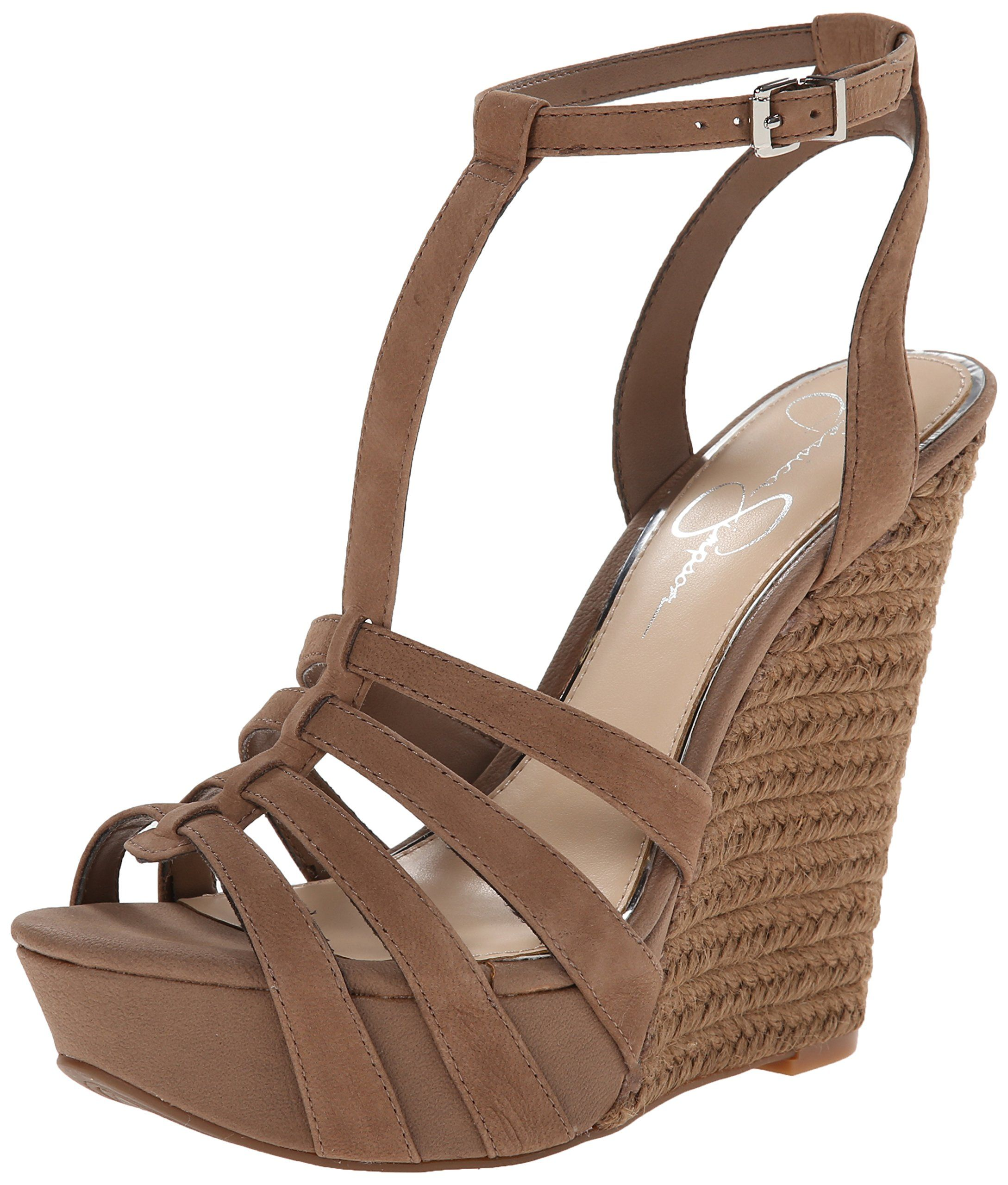 05fc7abb91 Amazon.com: Jessica Simpson Women's Bristol Wedge Sandal: Clothing ...