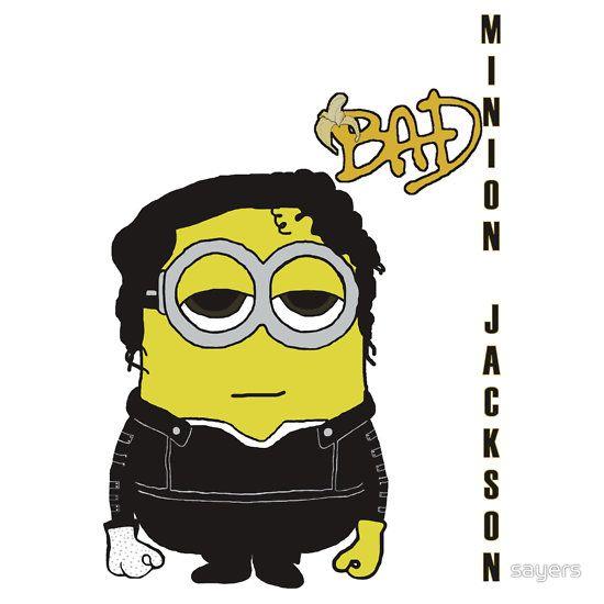 MINION JACKSON (Bad Album Cover) Minion as Michael Jackson