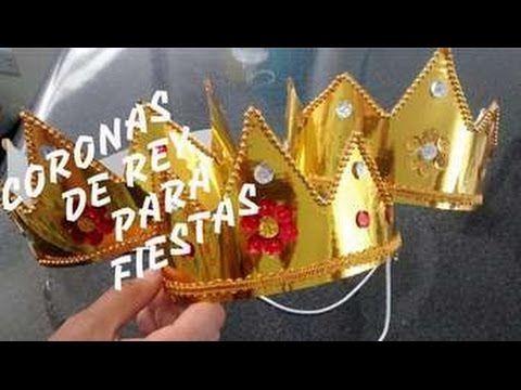 Corona de rey o reina fcil de hacer  Creaciones Duque y de Duque