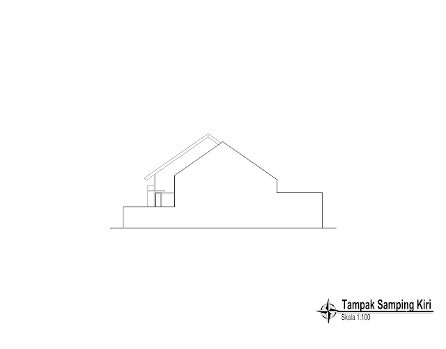Contoh Gambar Kerja Lengkap Rumah Minimalis 1 Lantai Rumah Minimalis Rumah Lantai