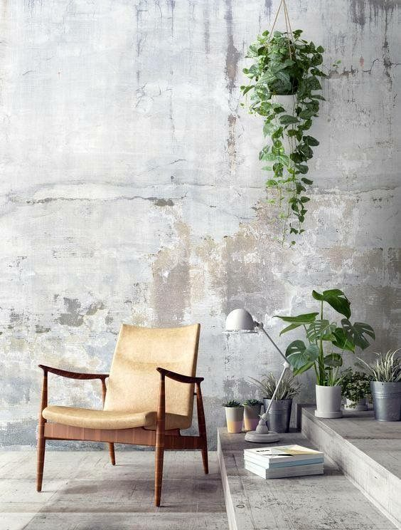This Image Is An Example Of Pattern The Wall In This Picture Appears To Be Made Of Concrete Concrete Walls Bedroom Concrete Walls Interior Concrete Interiors