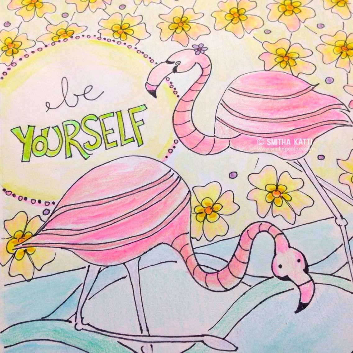 Coloring sheets for adults flamingo - Flamingo Coloring Page Printable If You Enjoy Keeping Things Trendy And Relaxing With An Adult