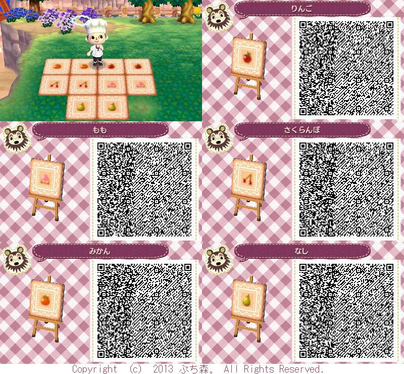 Animal Crossing New Leaf Hhd Qr Code Paths In 2020 Fruit