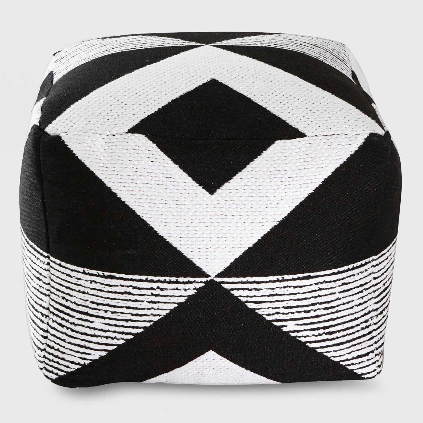 Geo Woven Outdoor Pouf Black Project 62 Target Outdoor Pouf