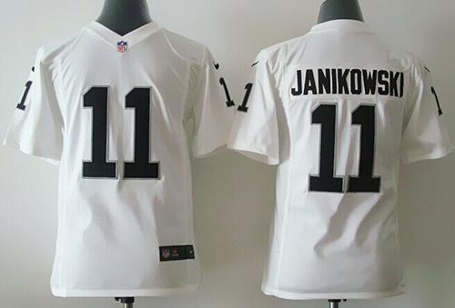 1b3532eb1 Nike Raiders  11 Sebastian Janikowski White Youth Stitched NFL Elite Jersey  And  Marcus Peters jersey