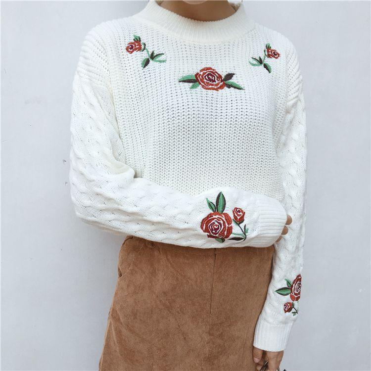 Pasta Women/'s Cardigan Zipper Sweater Embroidery Long Sleeve Collar Size Medium Vintage
