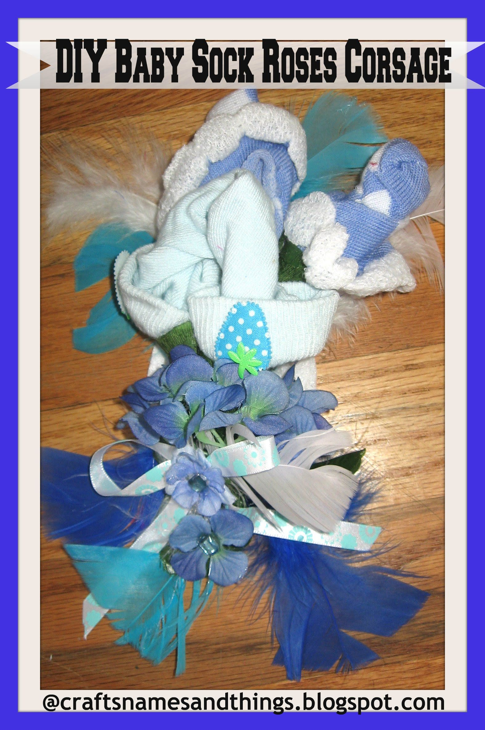 Home Made Baby Shower Gifts : How To Make A Baby Shower Corsage / DIY