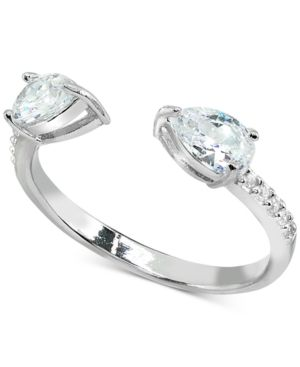 1a933832707b0 Giani Bernini Cubic Zirconia Stackable Pear Cuff Ring in Sterling ...