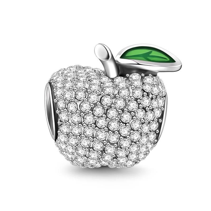 Pave Apple Silver gifts, Soufeel, Gold plated silver