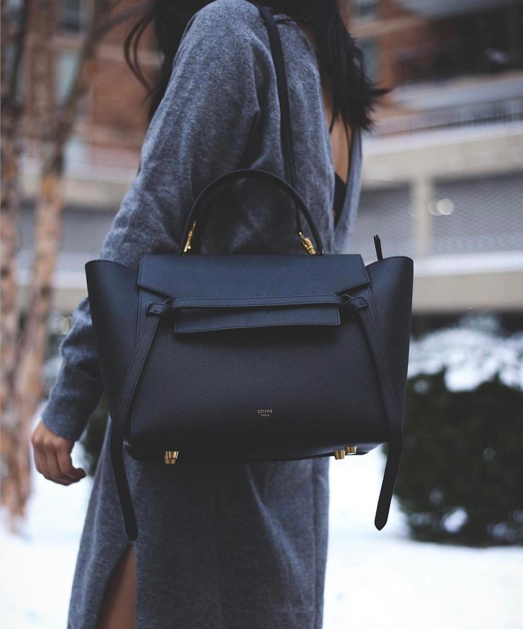 Black Celine Belt Tote Bag Celine Belt Bag Designer Work Bag