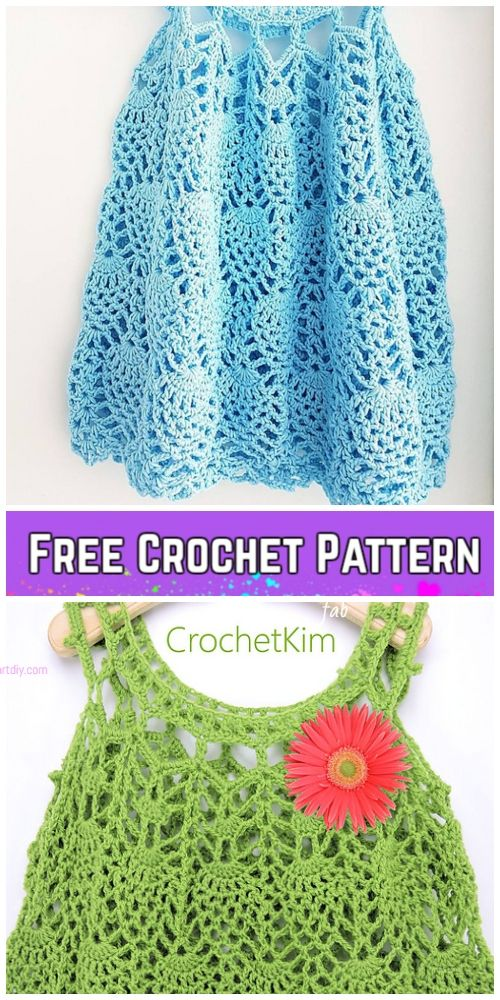 Crochet Pineapple Baby Dress Free Crochet Patterns - Video   Crochet ...