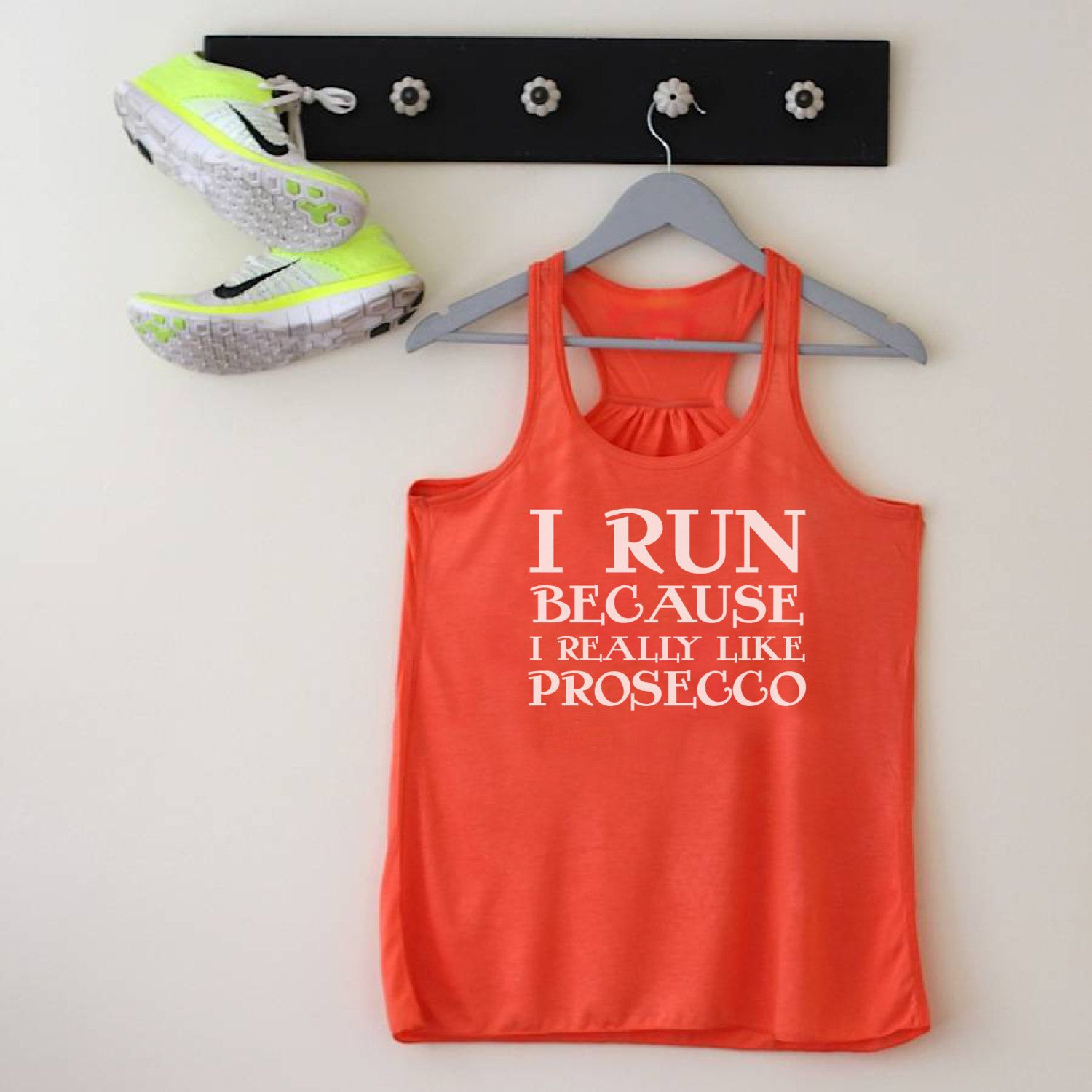 Amazing Funny Presents For Her Part - 9: Funny Running Racerback Tank For Prosecco Lovers - Prosecco Gift - Gifts  For Her - Gifts