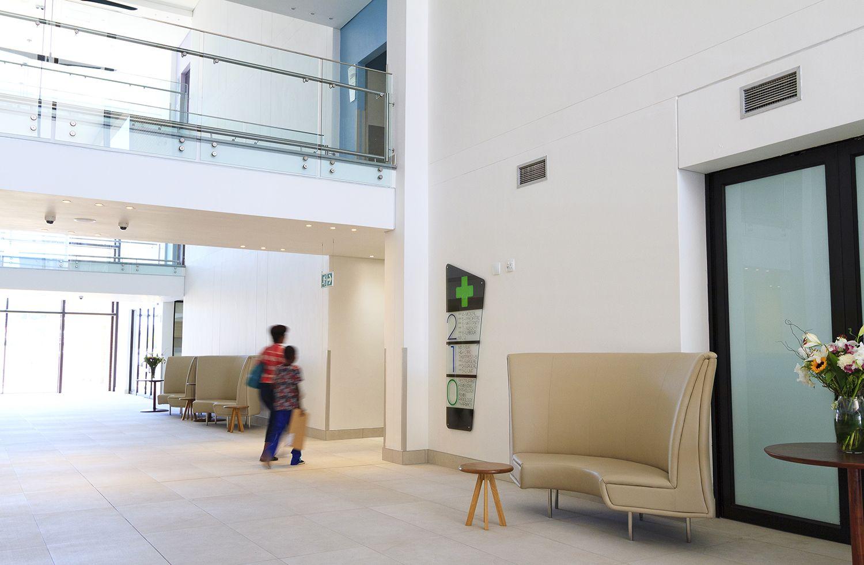 Lady Pohamba Private Hospital, Namibia – Commercial seating solution installed #furnituredesign #frankbohmstudio
