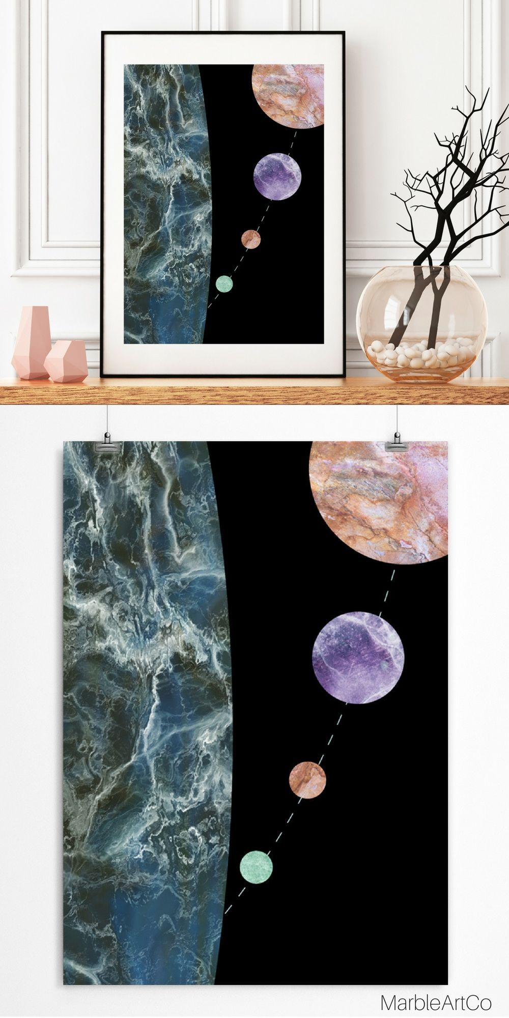 Outer space posters abstract space art astronomy print framed art