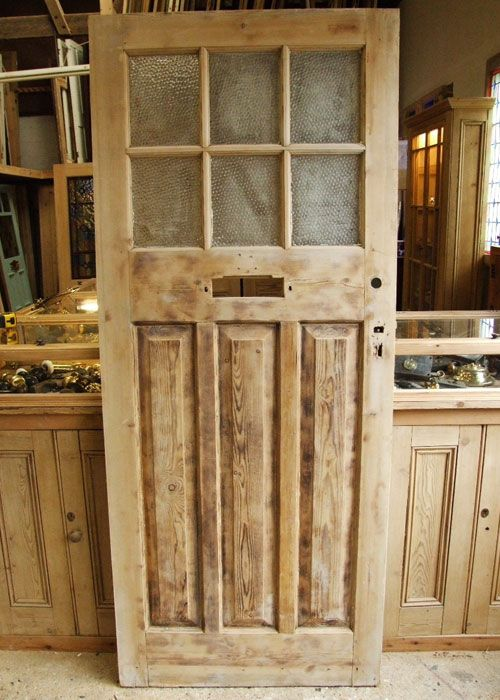 Reclaimed Pine External Edwardian Front Door | From the outside ...