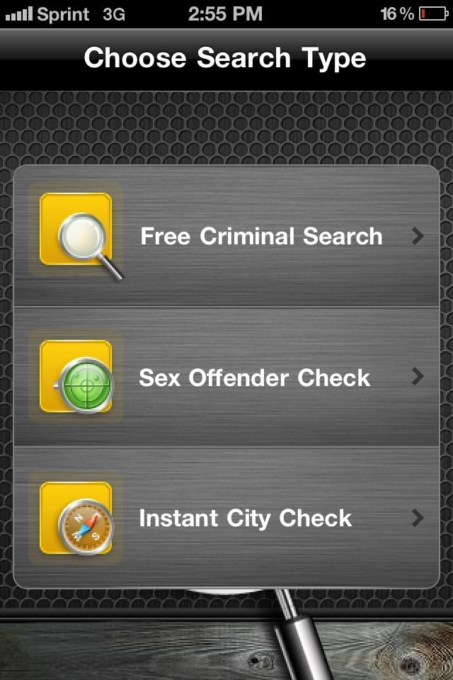 Criminal Pages App- Run your own free background check ...