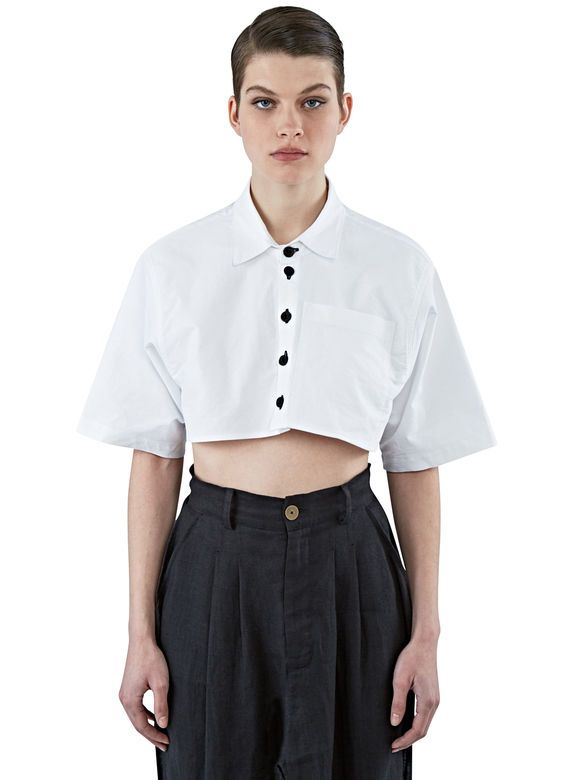 Women's Shirts - Clothing | Find more at LN-CC - Cropped Oxford Shirt