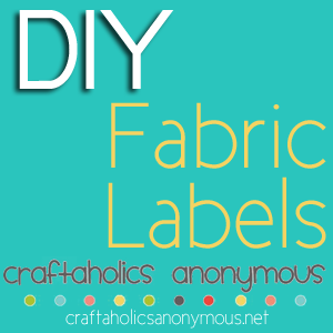 "Happy Wednesday! Ever wondered how to make clothing labels for items you've sewn or crafted? Well, Reenie asked a similar question on Craftaholics Anonymous facebook page: ""Fabric Labels: Does anyone know where I can buy my OWN printable fabric label"