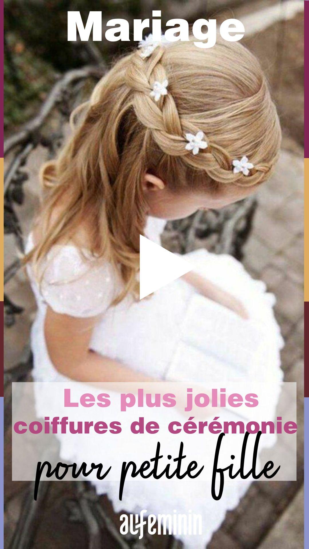 Cérémonie : idées de coiffures pour petite fille