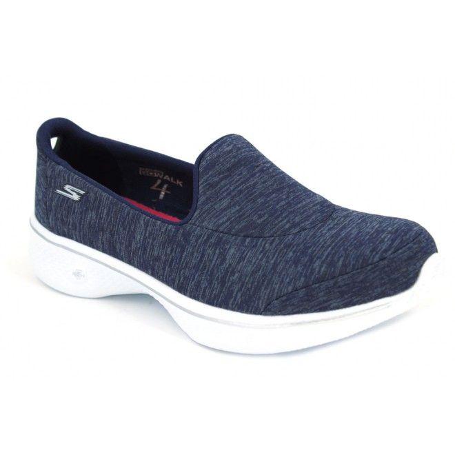 Skechers Go Walk 4 Astonish 14171 Zapatos mocasines de estilo casual para mujer hechos con materiales textiles con buena transpiración. Bonito diseño en este calzado informal de gran comodidad perfecto para caminar cómodas durante horas. Media suela 5 GEN y suela externa sintética, flexible y ligera.