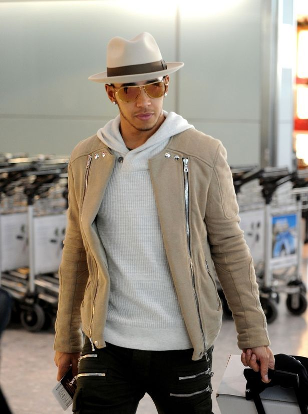 b48aec40ce1a Got enough zips  Lewis Hamilton jets out of London in style after ...