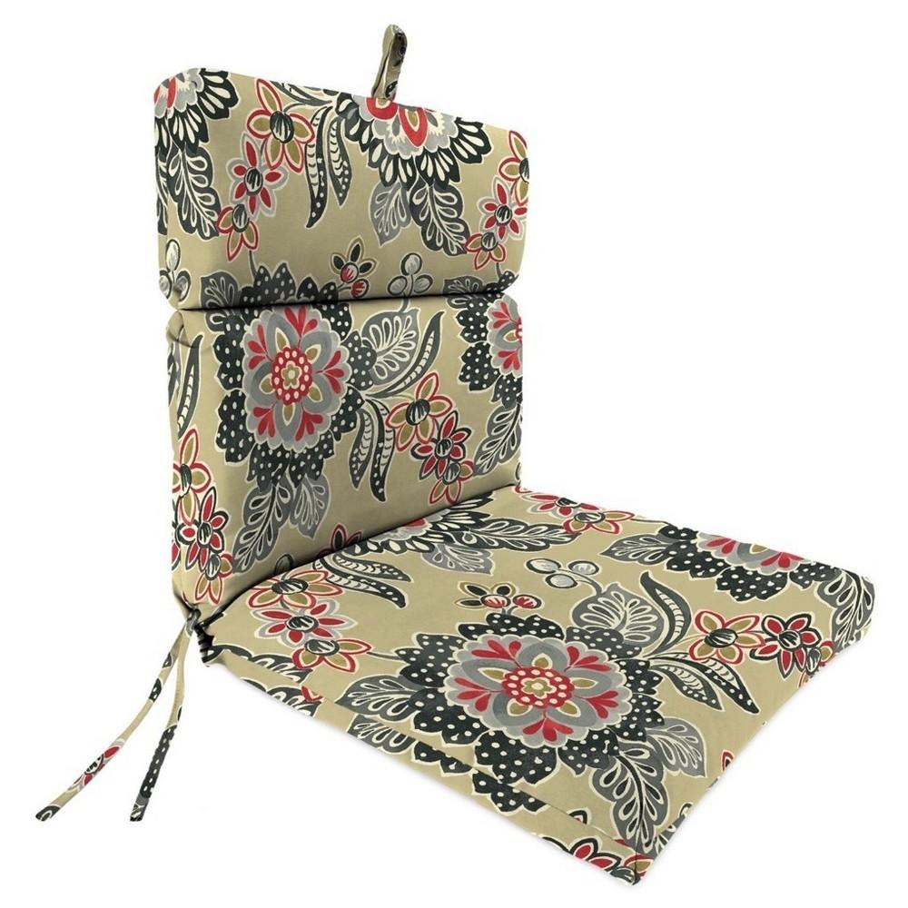 Jordan French Edge Dining Chair Cushion Ebony, Twirl