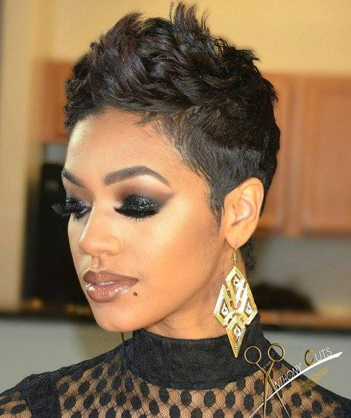 60 Great Short Hairstyles For Black Women Short Hair Pinterest